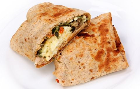 Egg White, Spinach, And Feta Wrap