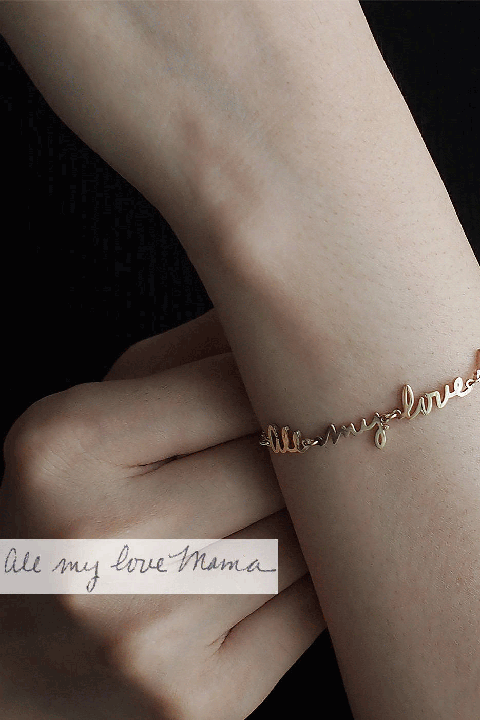 mothers day gifts karen whyte actual handwriting bracelet