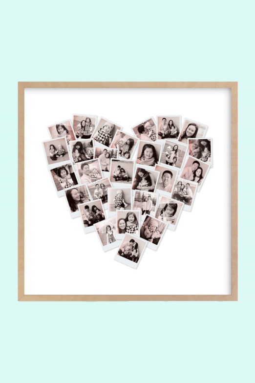 Mother's Day Gift Ideas - Filter Heart Snapshot Mix Photo Art