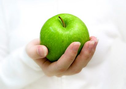 Finger, Green, Skin, Vegan nutrition, Fruit, Produce, Ingredient, Natural foods, Granny smith, Food,