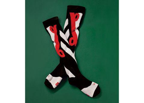 Carmine, Sock, Costume accessory,