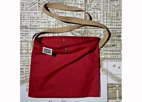 Product, Red, Bag, Maroon, Shoulder bag, Rectangle, Coquelicot, Brand, Label, Strap,
