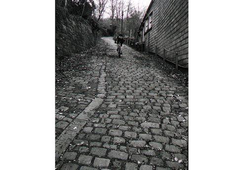 Infrastructure, Road surface, Street, Monochrome, Monochrome photography, Cobblestone, Black-and-white, Sidewalk, Photography, Snapshot,