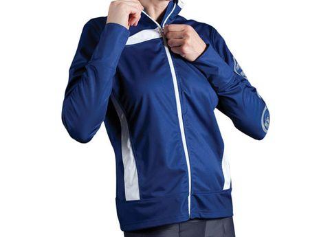 Product, Finger, Sleeve, Shoulder, Collar, Standing, Elbow, Jacket, Sweatshirt, Electric blue,