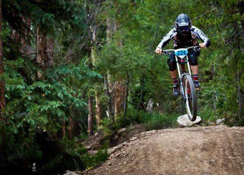 Clothing, Tire, Wheel, Nature, Natural environment, Helmet, Mountain bike, Mountain biking, Downhill mountain biking, Bicycle,