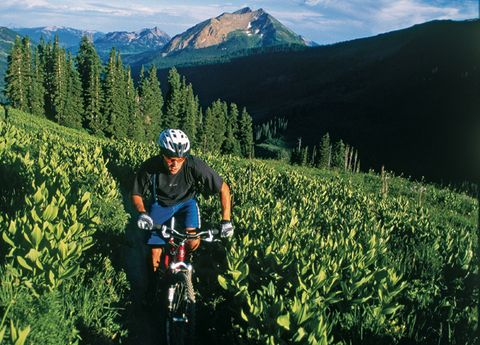 Helmet, Mountainous landforms, Bicycle helmet, Bicycles--Equipment and supplies, Bicycle clothing, Bicycle, Mountain bike, Endurance sports, Bicycle handlebar, Bicycle racing,