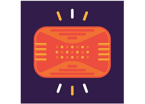 Orange, Technology, Line, Amber, Computer accessory, Pattern, Rectangle, Peach, Square, Circle,