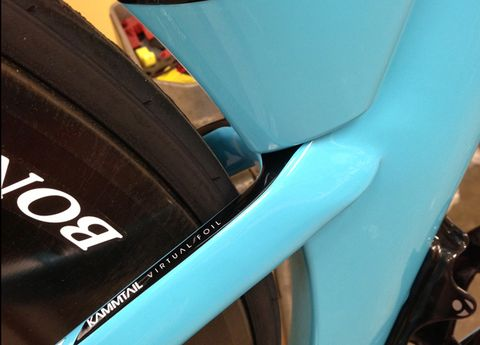 Bicycle tire, Bicycle wheel rim, Automotive tire, Blue, Rim, Synthetic rubber, Bicycle accessory, Fender, Teal, Tread,