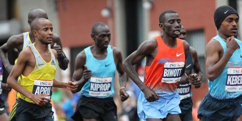 Men's leaders at the 2013 New York City Marathon