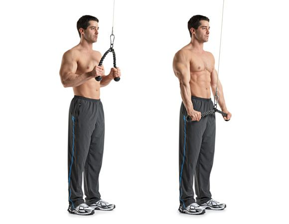 Machine tricep extension