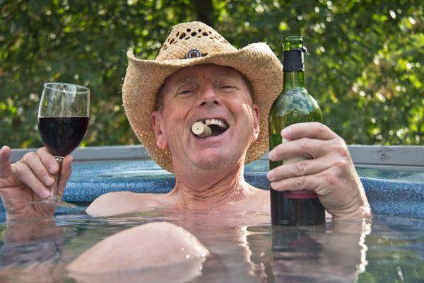 Drunk hot tub