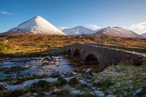 Sligachan brige, Isle of Skye, Highland, UK