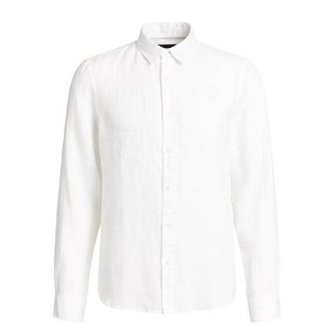 slim fit overhemd van linnen