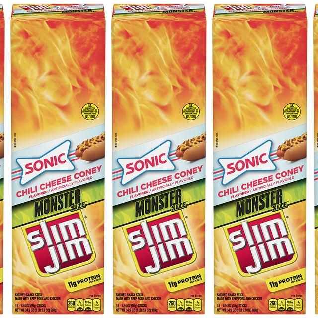 slim jim sonic chili cheese coney flavored stick