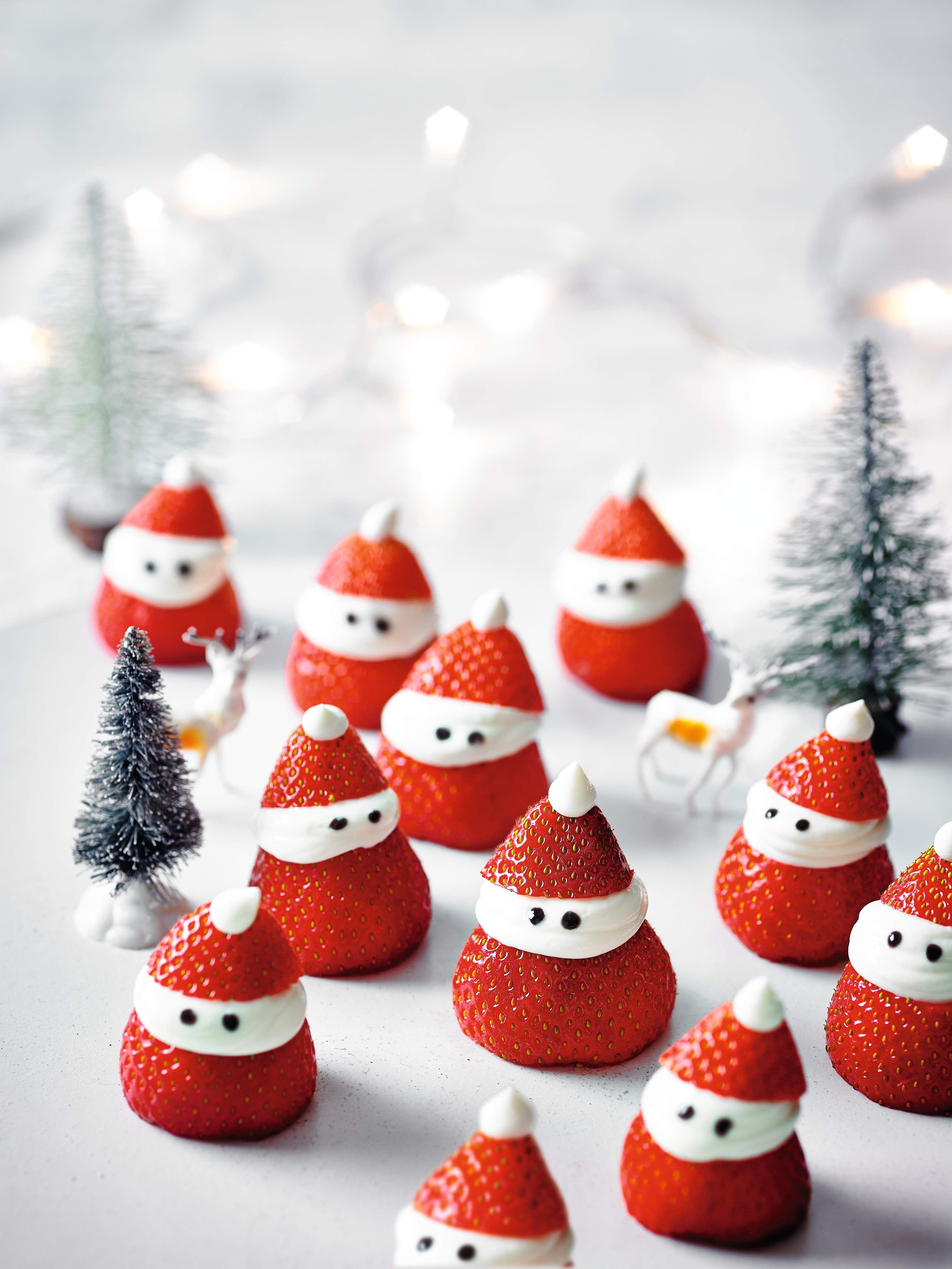 Strawberry Cheesecake Santas