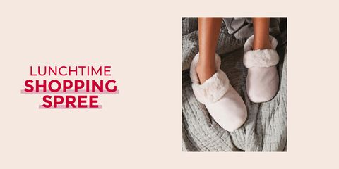 Lunchtime shopping spree - The White Company slippers