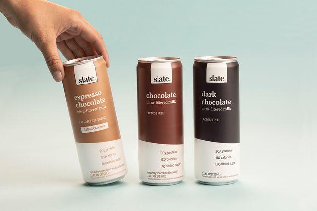 slate milk in three flavors