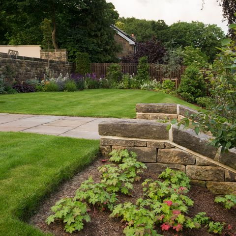 Sloping Garden Ideas - 5 Things To Consider: Terraces ... on Garden Designs For Sloping Gardens id=54441