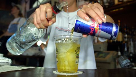 Red Bull Energy Drink Mixed With Alcohol