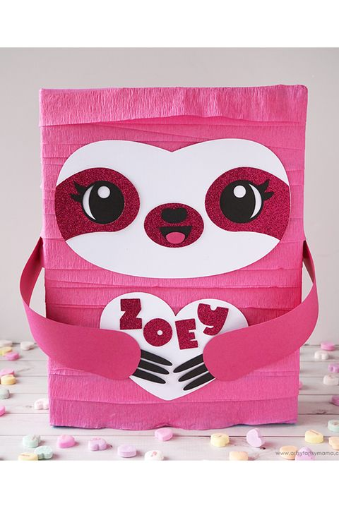 sloth valentine's day mailbox