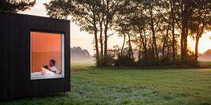 Slow Cabins (TM) en Bélgica. Xavier Leclair © Slow Cabins - Jonas Verhulst