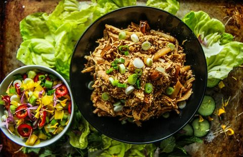slow cooker lettuce cups chicken
