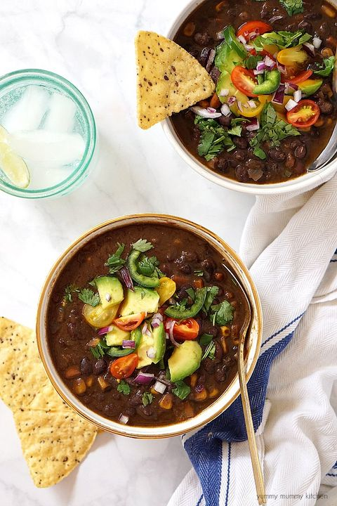 healthy slow-cooker soups: slow cooker black bean soup