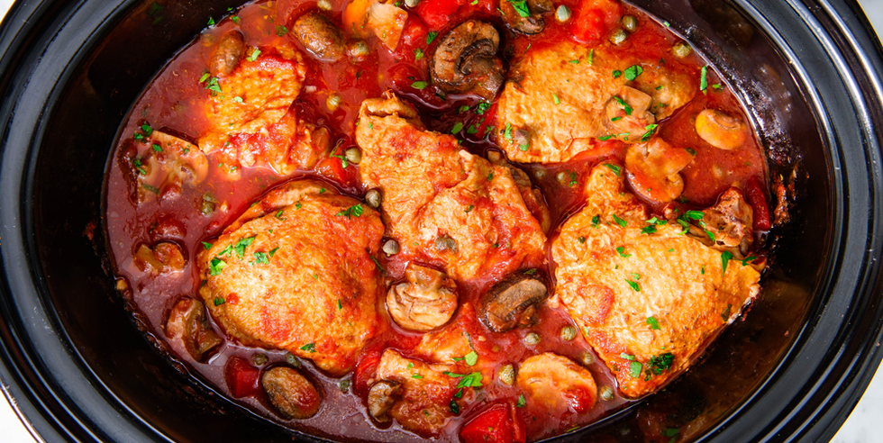 Best Slow Cooker Chicken Cacciatore Recipe How To Make Slow Cooker Chicken Cacciatore