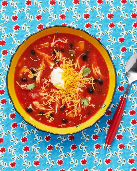 healthy soup recipes  slow cooker chicken tortilla soup
