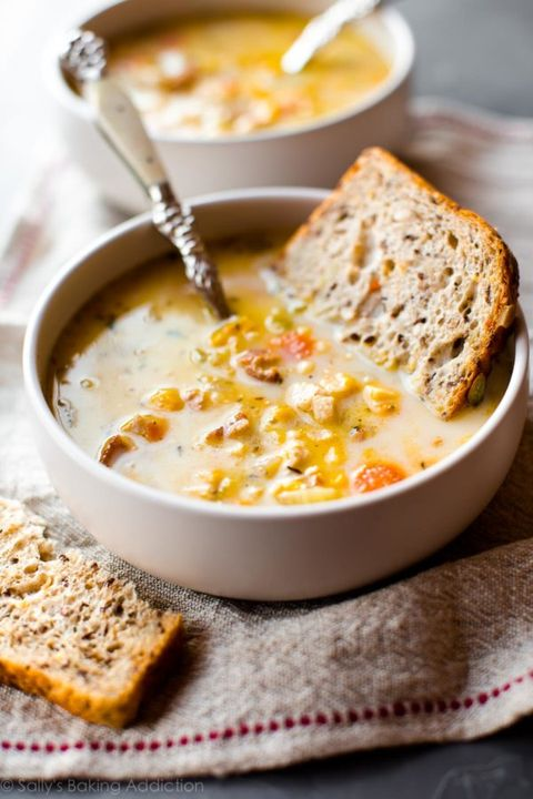 healthy slow-cooker soups: slow cooker light chicken corn chowder