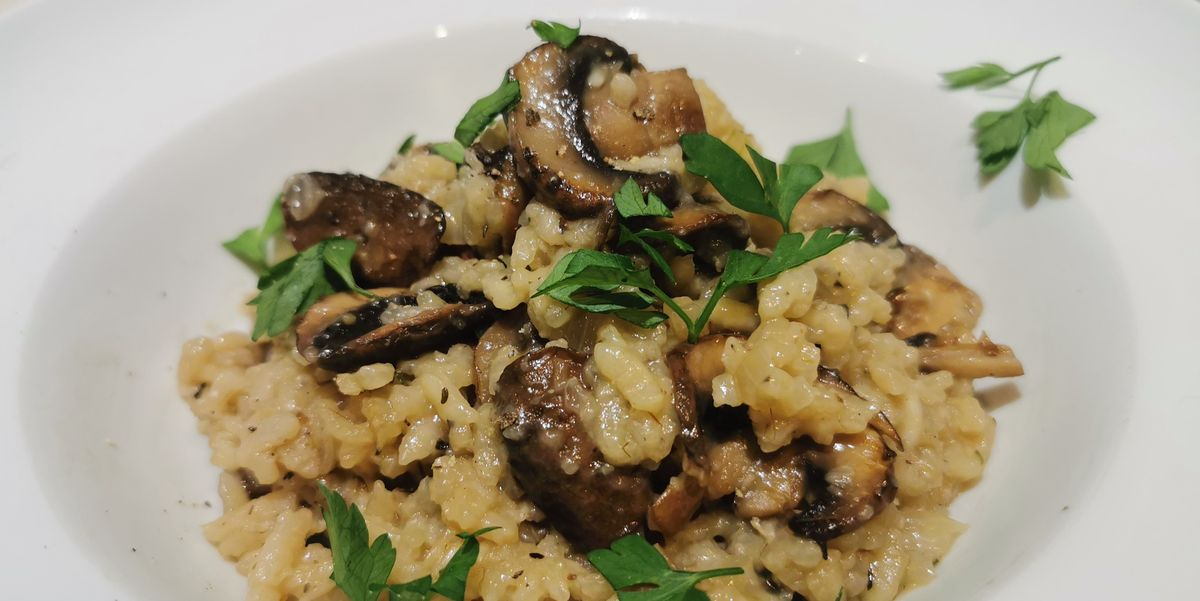 Slow Cooker Mushroom Risotto Is SO Flavourful