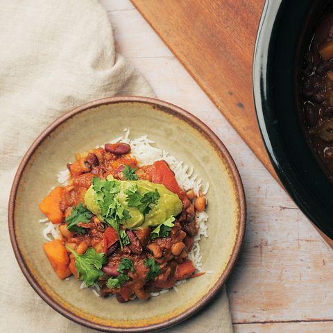 vegan slow cooker chilli