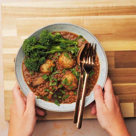 slow cooker recipe vegan dumpling stew