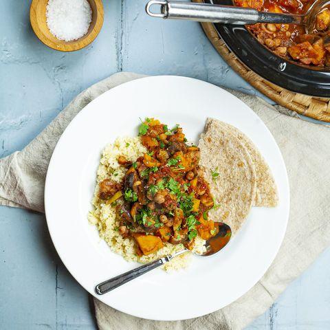 slow cooker vegetable tagine