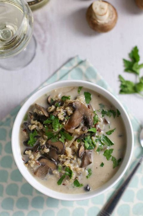 Dish, Food, Cuisine, Ingredient, Cream of mushroom soup, Risotto, Produce, Recipe, Magiritsa, Meat,