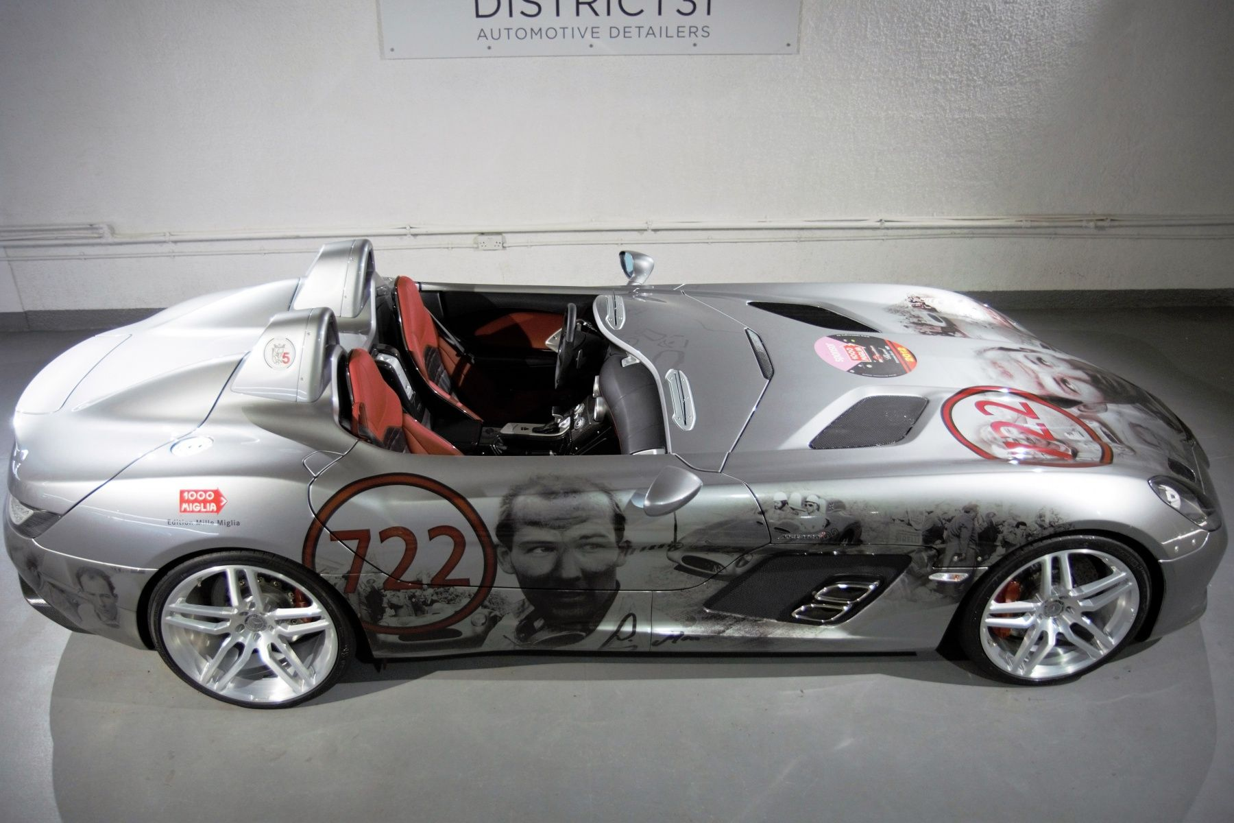 You Must Buy This Mercedes Benz SLR Stirling Moss Covered With Paintings Of  Mossu0027s Face