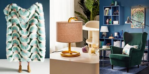 Furniture, Room, Table, Interior design, Lamp, Home, Living room, Shelf, Interior design,