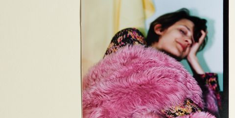 Textile, Pink, Magenta, Purple, Fur clothing, Colorfulness, Display device, Violet, Fur, Natural material,