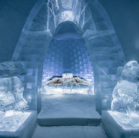 Ice hotel, Freezing, Ice, Winter, Snow, Space, Symmetry, World, Igloo, Screenshot,