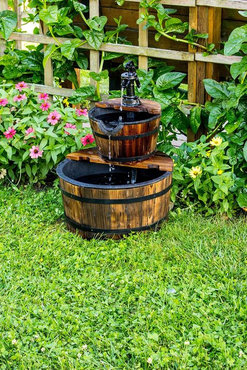 small backyard fountain - 25 Small Backyard Ideas - Beautiful Landscaping Designs For Tiny Yards