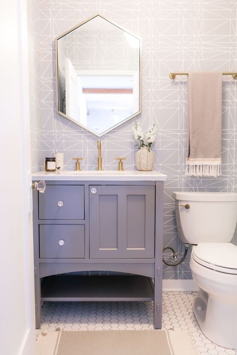 44 Best Small Bathroom Ideas - Bathroom Designs for Small Spaces Vintage Country White Bathroom Designs Html on vintage bathroom cabinets, vintage marble bathroom designs, country bath designs, vintage blue bathroom designs, vintage bathroom remodeling ideas,