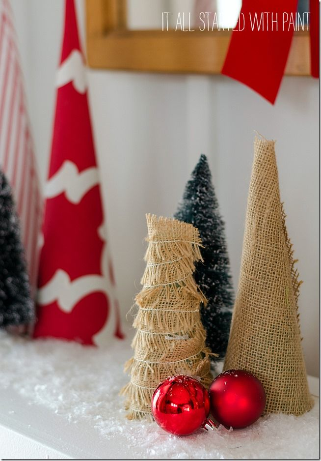 30 best small christmas trees ideas for decorating mini christmas trees - Burlap Christmas Decorations Wholesale