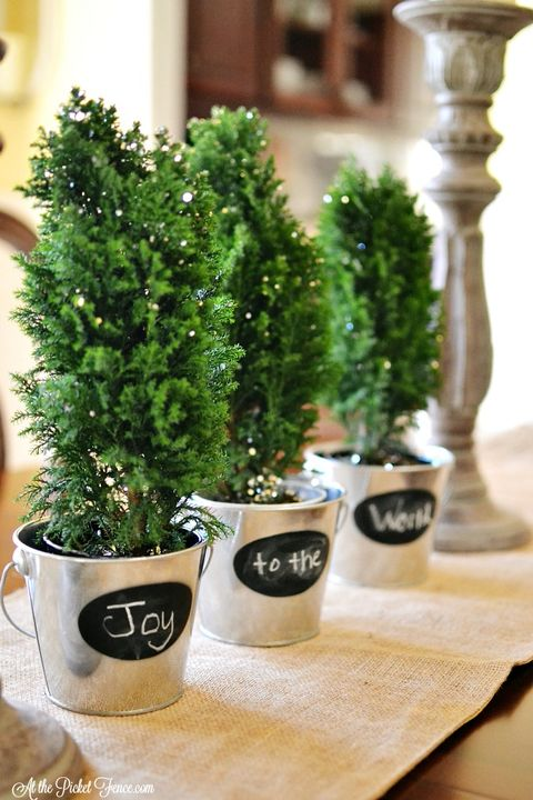 small christmas trees chalk - How To Decorate A Small Christmas Tree