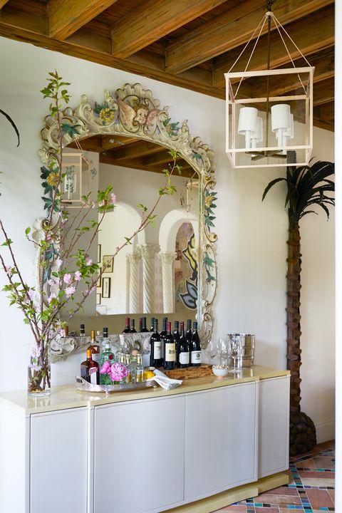 small whimsical home bar