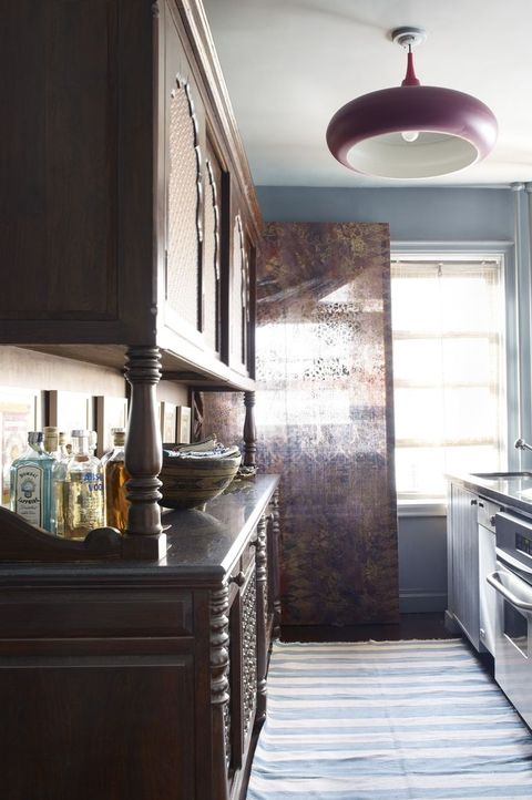 Small Kitchens William Waldron Blue Kitchen