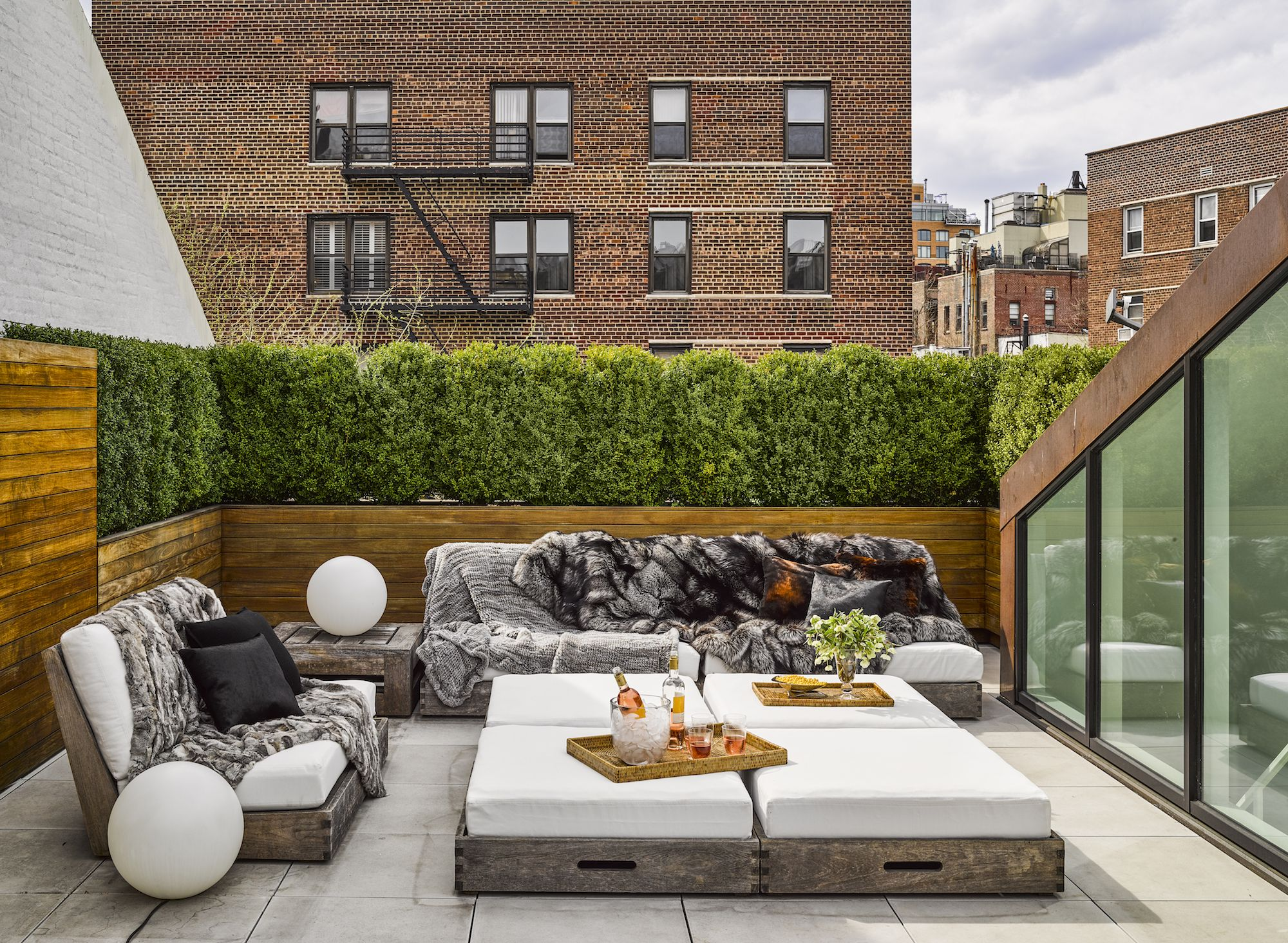 40 Small Patio Ideas Perfect For Entertaining & 16 Best Apartment Size Sofas - Couches for Small Apartments