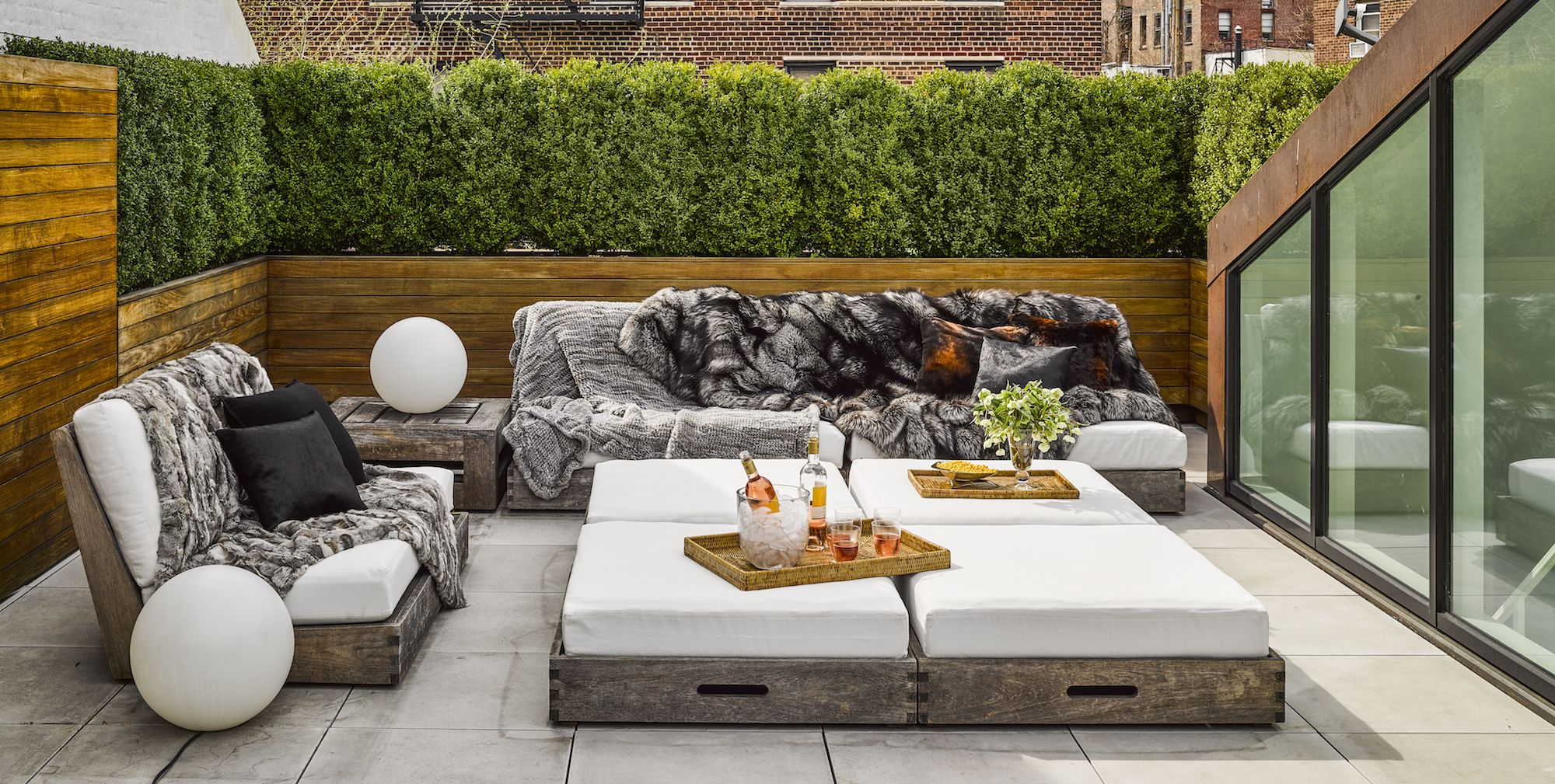A small patio is ironically the perfect place for big ideas