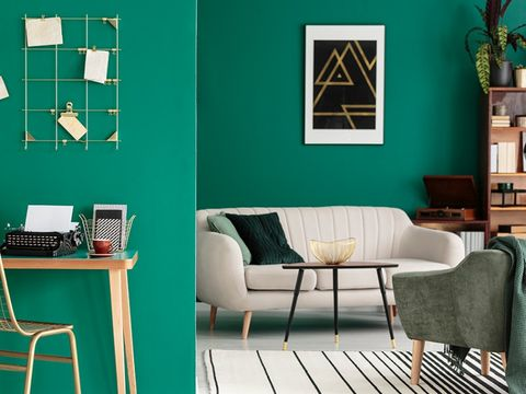 Green, Room, Furniture, Turquoise, Blue, Interior design, Teal, Table, Wall, Living room,