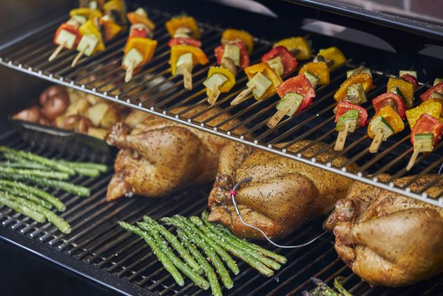 food grilling on smart grill