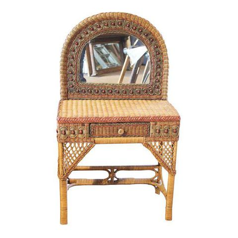 small wicker vanity